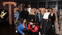Tristan Thompson with Khloe, Kendall, and Kylie Jenner