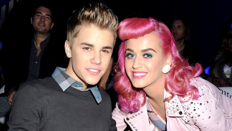 Justin Bieber and Katy Perry at an event together