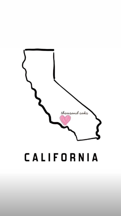 Kim posted this picture of California in her story