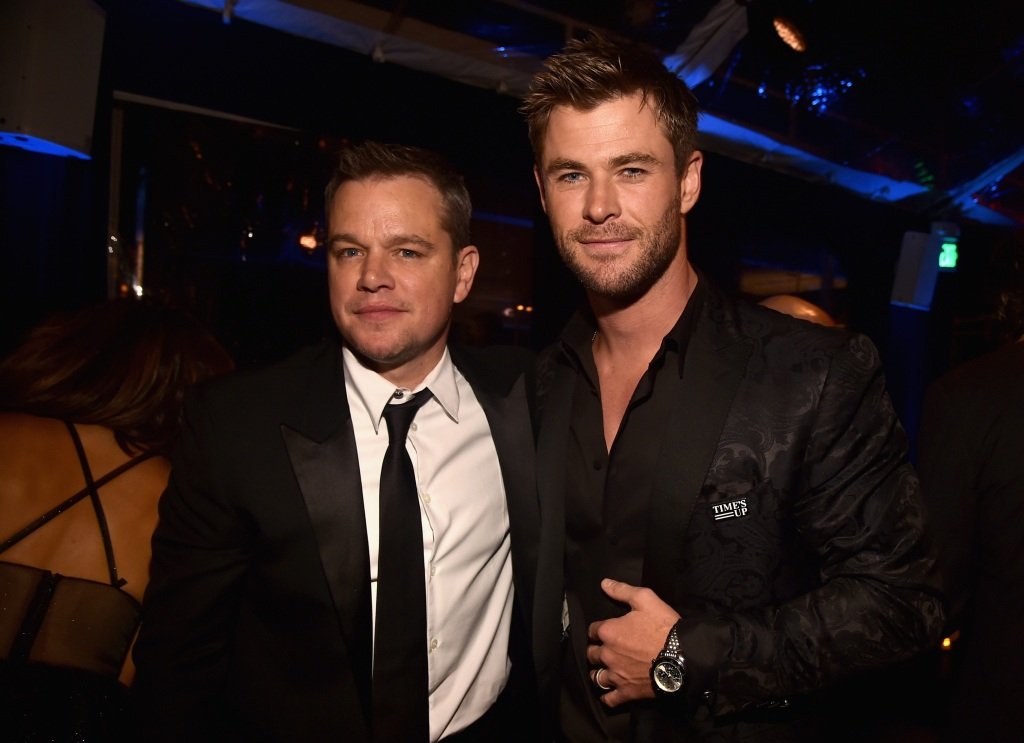 Chris Hemsworth and Matt Damon at an event together