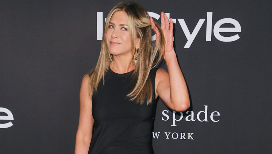 Jennifer Aniston, Posing, Black Dress, Hair Flip, InStyle Awards