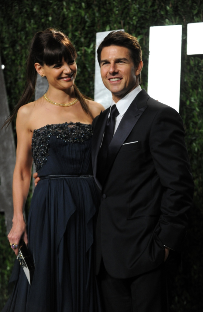 Katie Holmes and Tom Cruise at an event together
