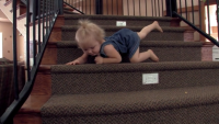 Jordyn Duggar Climbing Down The Stairs