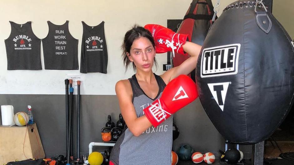 Farrah Abraham Practices Boxing