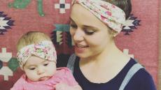 Jinger Duggar Holds Felicity Vuolo While They Wear Matching Headbands