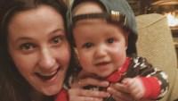 Tori Roloff Holds Up Jackson Wearing A Big Baseball Hat