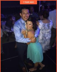 Javi Marroquin And Lauren Comeau Throwback Photo