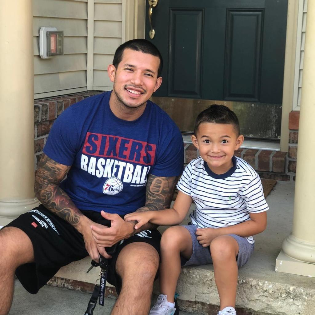 Javi Marroquin And Lincoln Smiling