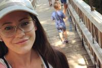 Jenelle Evans Takes Selfie As Family Walks Across Bridge
