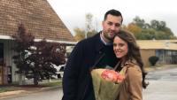 Jinger Duggar Holds Flowers With Jeremy Vuolo