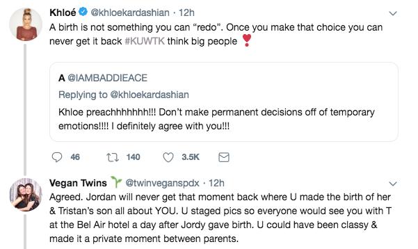 Khloe Kardashian, tweet, twitter, clapback, tristan