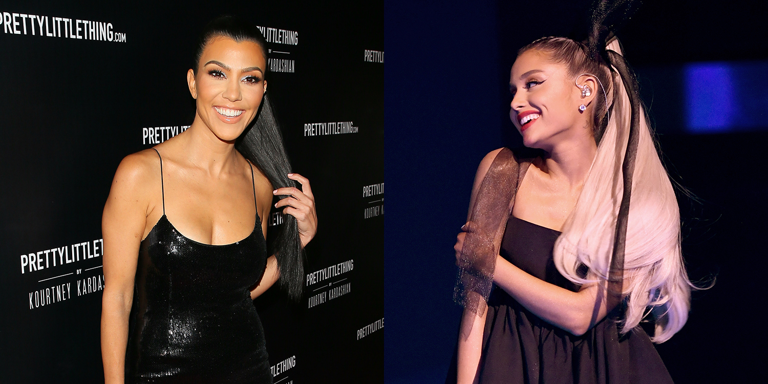Ariana Grande Halloween Costume 2019.Kourtney Kardashian S Ariana Grande Halloween Outfit Is Ari Approved