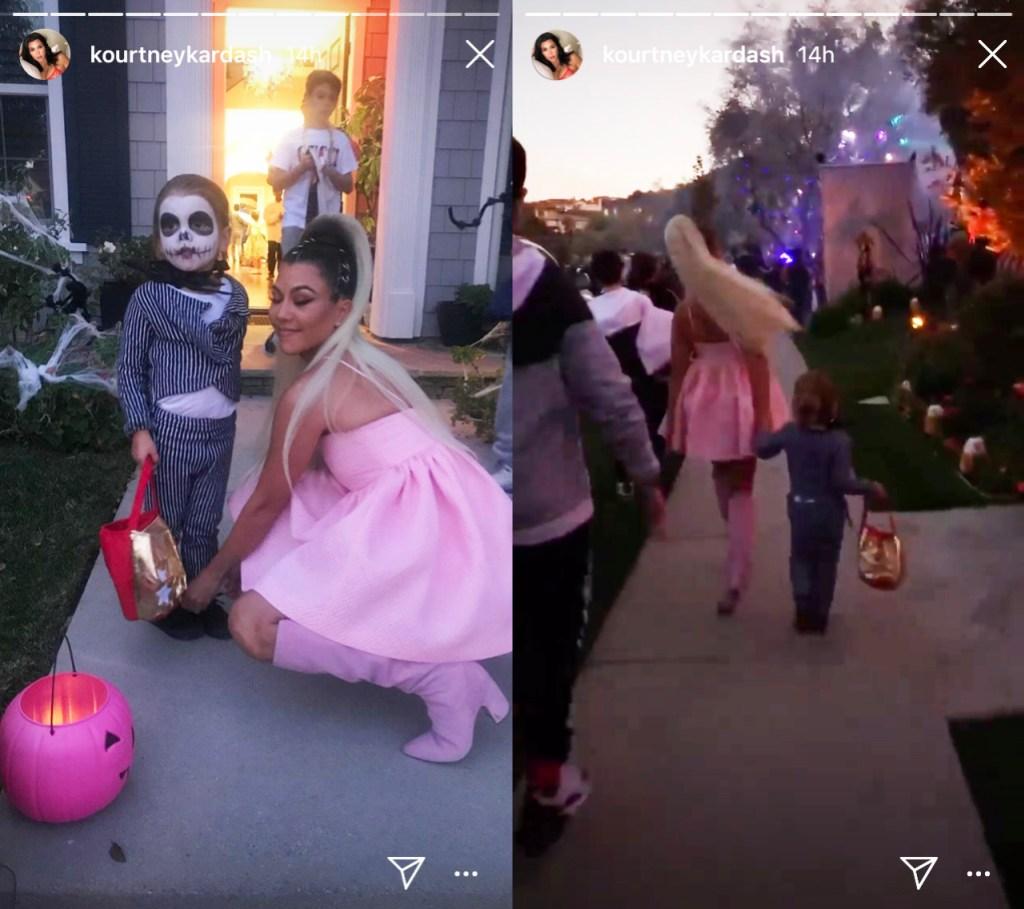 Kourtney Kardashian Takes Reign Trick-Or-Treating