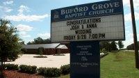 Josh And Anna's Wedding Church Sign