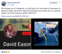 David Eason Brags About Towing Truck On Facebook