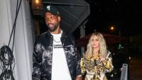 Tristan Thompson and Khloe Kardashian walking together