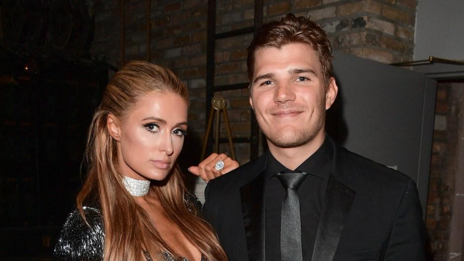 Paris Hilton and Chris Zylka at an event