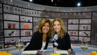 Kathie Lee and Hoda Kotb at the Today Show, wearing black