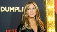 Jennifer Aniston wearing black at a premiere in LA