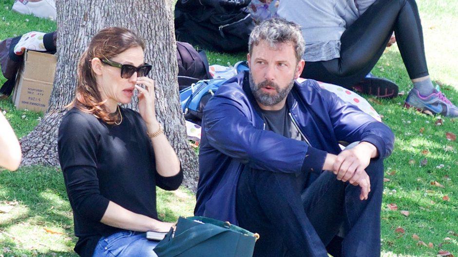 Ben Affleck And Jennifer Garner Talk In Park