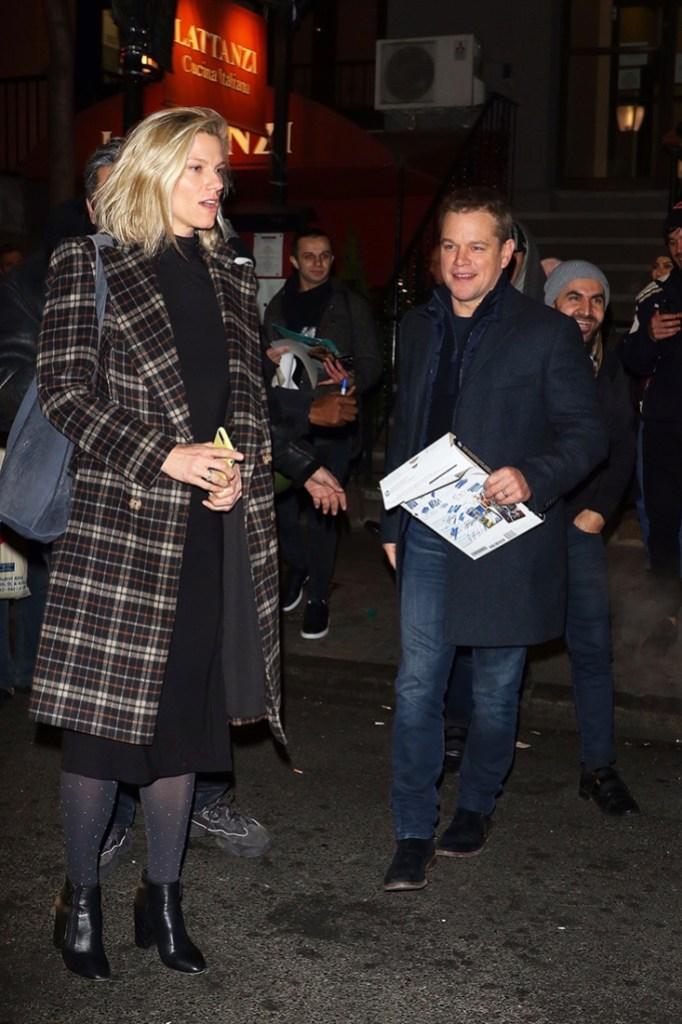 Matt Damon Lindsay SNL Shookus Lattanzi dinner