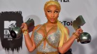 Nicki Minaj Poses With Awards At MTV Europe Music Awards