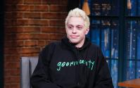 Pete Davidson, Black Sweatshirt, No Smile