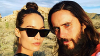 Chloe Bartoli and Jared Leto in the desert