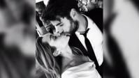 Miley Cyrus, Liam Hemsworth, Wedding, Kissing