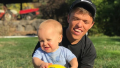jackson and zach roloff with soccer ball