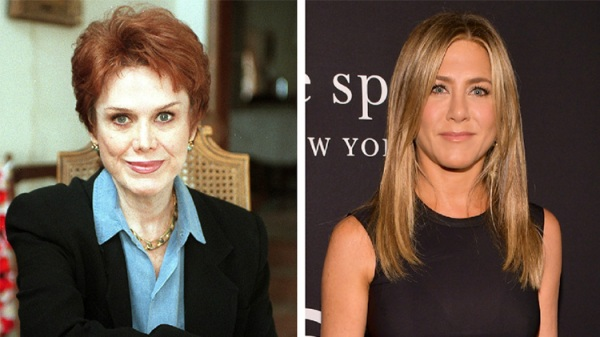jennifer aniston mother nancy dow feud