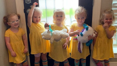 the busby quints in yellow