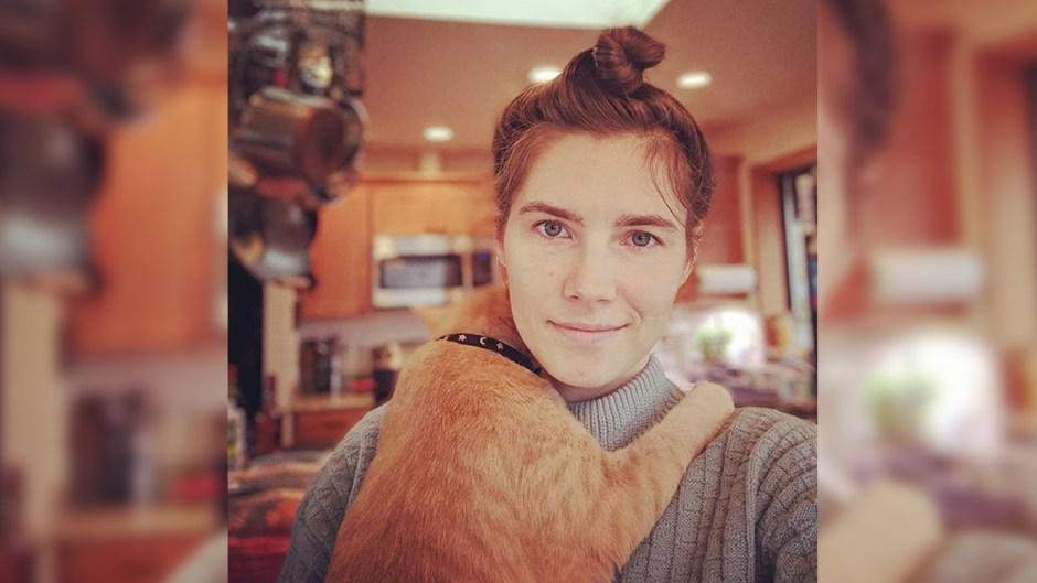 Amanda Knox Smiles In Selfie While Holding Cat