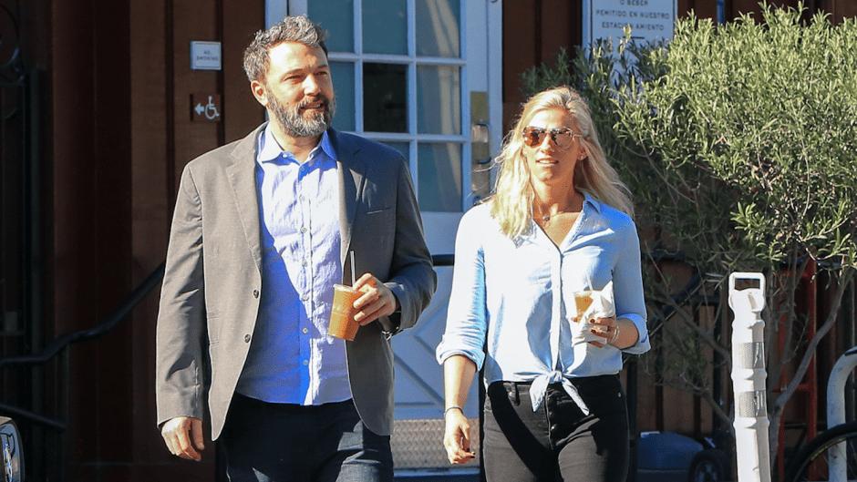 Ben Affleck and Lindsay Shookus walking