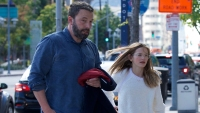 Ben Affleck Takes His Oldest Daughter Violet to See Cinderella
