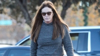 Caitlyn Jenner looking downcast picked up a coffee local Starbucks in Malibu weekend