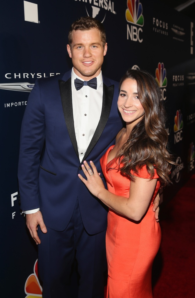 Colton Underwood Aly Raisman Golden Globes afterparty 2017