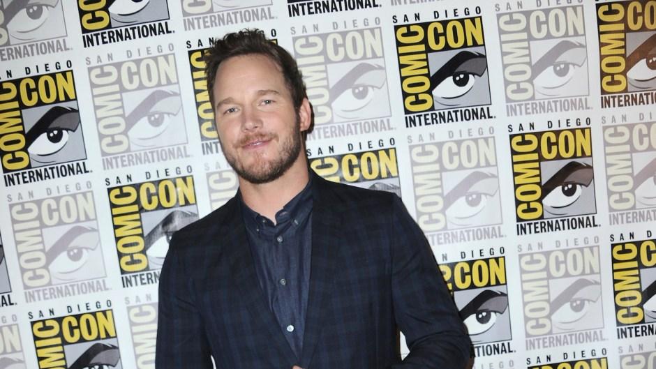 Chris Pratt wearing a suit at an event
