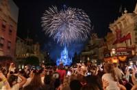 Fireworks exploding at Disney World