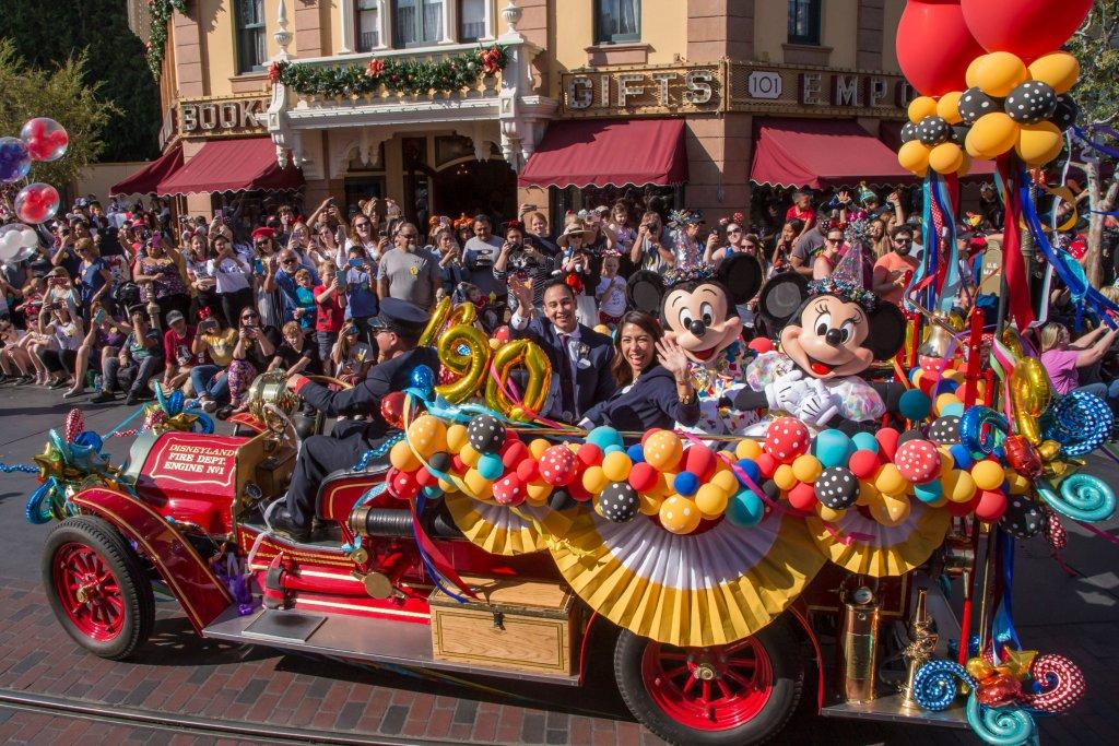 Disneyland 90th celebration parade