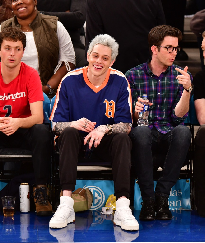 Pete Davidson at the New York Knicks Game in NYC