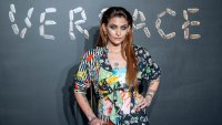 Paris Jackson wearing a lot of patterns at a fashion show