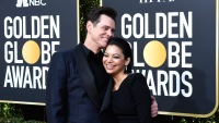 Jim Carrey with his new girlfriend at Golden Globes