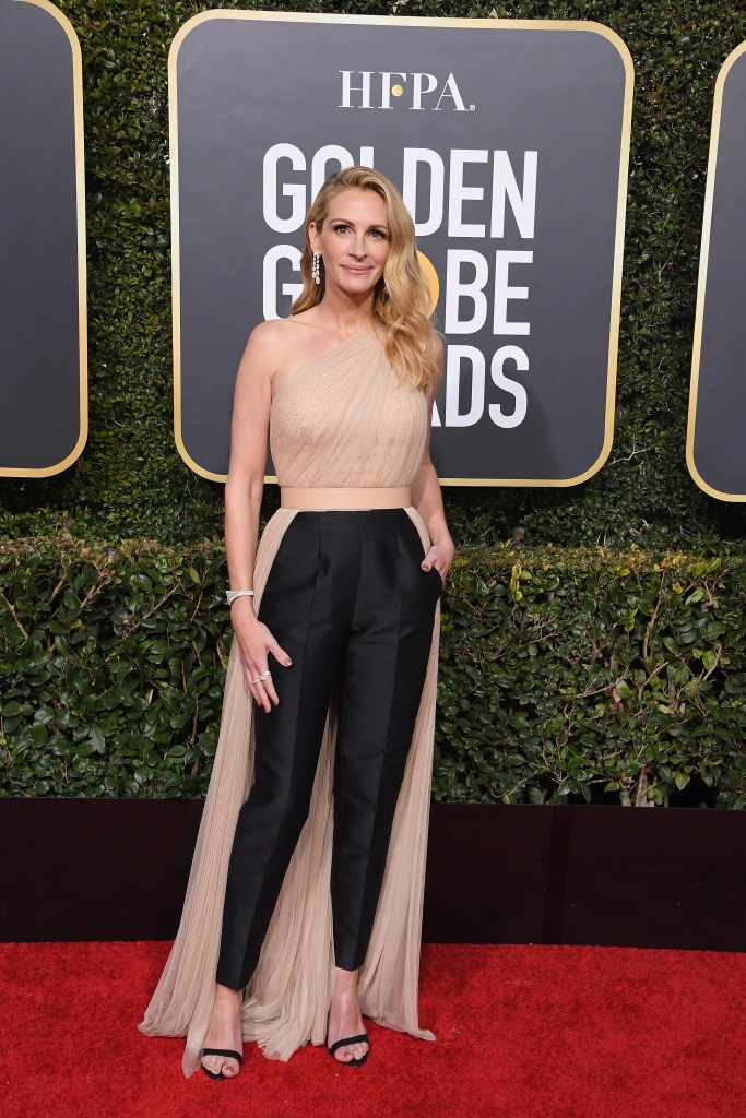 Julia Roberts at the Golden globes Awards