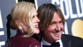 Nicole Kidman with Keith Urban at the Golden Globes