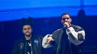 Drake singing with The Weeknd