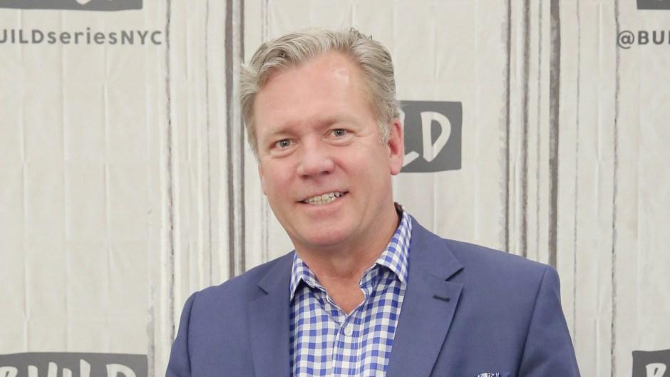 Chris Hansen wearing a blue suit