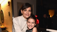 Katie Holmes with Suri Cruise at an event