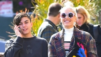 Gwen Stefani is all smiles as she heads out with her children