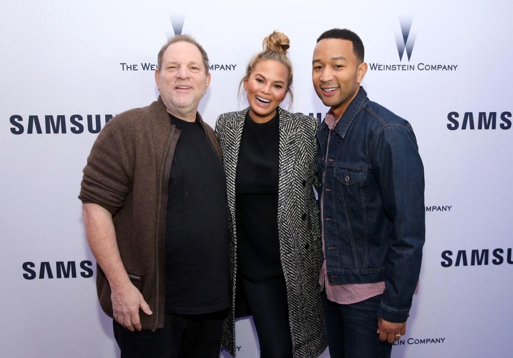 Harvey Weinstein, Chrissy Teigen, and John Legend